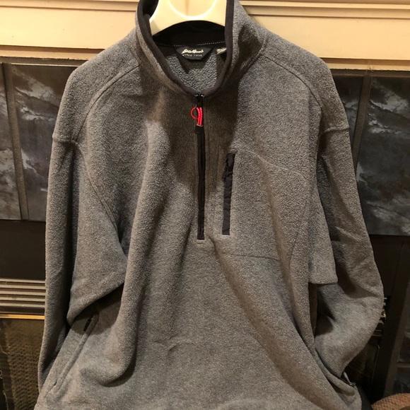 Men's Eddie Bauer Grey Fleece Pullover